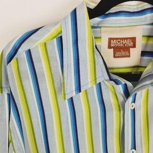 Michael Kors striped button down dress shirt large